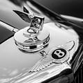 1953 Bentley R-type Hood Ornament - Emblem -0271bw by Jill Reger