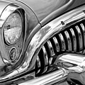 1953 Buick Chrome Bw by Jerry Fornarotto