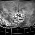1953 Cadillac Series 62 Hood Emblem -0835bw by Jill Reger