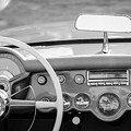 1954 Chevrolet Corvette Steering Wheel -368bw by Jill Reger