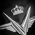 1954 Chrysler Imperial Sedan Emblem -0068bw by Jill Reger