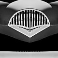 1954 Kaiser Darrin Grille Black And White by Jill Reger