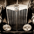 1954 Mg Tf Grille Emblem -0165s by Jill Reger