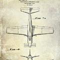 1955  Airplane Patent Drawing 2 by Jon Neidert