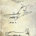 1955  Airplane Patent Drawing by Jon Neidert