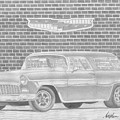 1955 Chevrolet Nomad Classic Car Art Print by Stephen Rooks