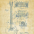 1955 Mccarty Gibson Les Paul Guitar Patent Artwork Vintage by Nikki Marie Smith