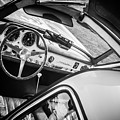 1955 Mercedes-benz 300sl Gullwing Steering Wheel - Race Car -0329bw by Jill Reger