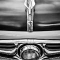 1956 Fiat 600 Elaborata Hood Ornament -0240bw by Jill Reger