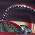 1956 Ford Thunderbird Speedometer - Steering Wheel -0714c by Jill Reger