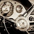 1956 Ford Victoria Steering Wheel -0461s by Jill Reger