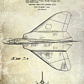 1956 Jet Airplane Patent 2 Blue by Jon Neidert