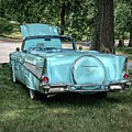 1957 Bel Air  Blue Convertible  by Luther Fine Art
