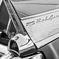 1957 Chevrolet Bel Air Tail Light Emblem -0140bw by Jill Reger