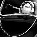 1957 Chevrolet Belair Steering Wheel Black And White by Jill Reger