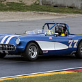 1957 Chevy Corvette At Road America by Tad Gage