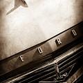 1957 Ford Custom 300 Series Ranchero Hood Ornament - Emblem -0477s by Jill Reger