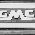 1957 Gmc Pickup Truck Tail Gate Emblem -0272bw2 by Jill Reger