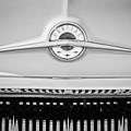 1957 Pontiac Safari Emblem -0737bw by Jill Reger
