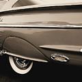 1958 Chevy Impala  by Kathy K McClellan