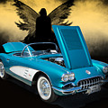 1958 Corvette By Chevrolet And Dark Angel Photograph Print 3482. by M K Miller