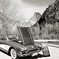 1958 Corvette By Chevrolet Near River In A Sepia Photograph 3495 by M K Miller