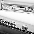 1958 Dodge Sweptside Truck Emblem -0039bw by Jill Reger