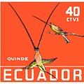 1958 Ecuador Hummingbirds Postage Stamp by Retro Graphics