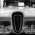1958 Edsel Pacer Black And White by John Straton