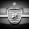 1958 Fiat Abarth-zagato Grille Emblem -1632bw by Jill Reger