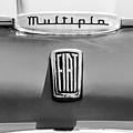 1958 Fiat Multipla Hood Emblems -1651bw by Jill Reger