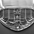 1958 Ford Fairlane Sunliner Intake Bw by Chris Flees