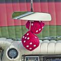 1959 Cadillac Eldorado Fuzzy Dice by Jill Reger