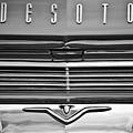 1959 Desoto Firesweep 2-door Hardtop Emblems -1807bw by Jill Reger