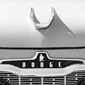 1959 Dodge Coronet Emblem - Hood Ornament -0903bw by Jill Reger