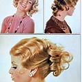 1960 70 Stylish Female Hair Styles Golden Blond by R Muirhead Art