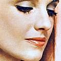 1960 70 Stylish Lady In Red by R Muirhead Art