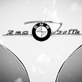 1960 Bmw Isetta Coupe Emblem -0966bw by Jill Reger