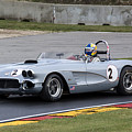 1960 Chevy Corvette At Road America by Tad Gage