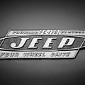 1960 Forward Control Jeep Fc-170 Emblem -1669bw by Jill Reger