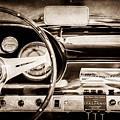 1960 Maserati 3500 Gt Spyder Steering Wheel Emblem -0407s by Jill Reger