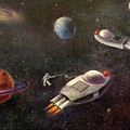 1960s Outer Space Adventure by Randy Burns