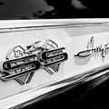 1961 Chevrolet Bel Air Impala Ss Bubble Top Side Emblem -0242bw by Jill Reger