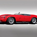 1961 Ferrari Tr61 Corsa Rosso by Dave Koontz