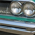 1961 Pontiac Catalina Grille With Headlights And Logo by WHBPhotography Wallace Breedlove
