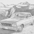 1962 Chevrolet Impala 4 Door Classic Car Art Print by Stephen Rooks
