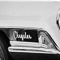 1962 Chrysler Head Light Emblem -0445bw by Jill Reger