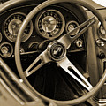 1963 Chevrolet Corvette Steering Wheel - Sepia by Gordon Dean II
