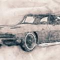 1963 Chevrolet Corvette Sting Ray - 1963 - Automotive Art - Car Posters by Studio Grafiikka
