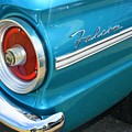 1963 Ford Falcon Tail Light And Logo by WHBPhotography Wallace Breedlove